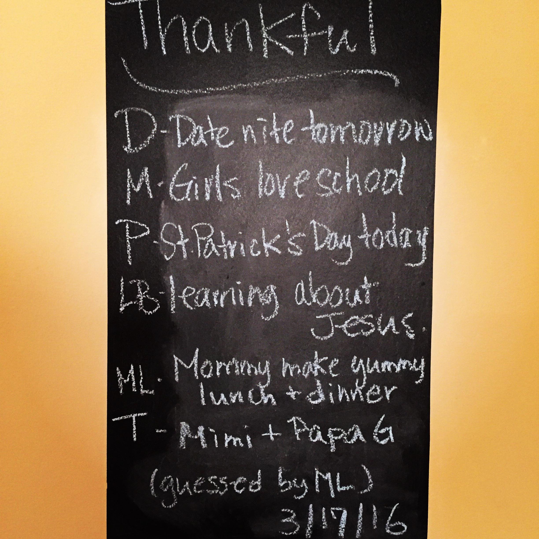 Thankful Thursday 3.17.16
